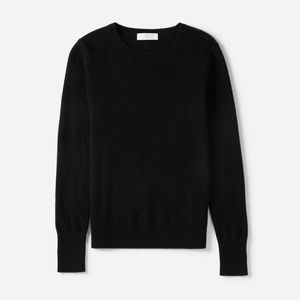 Black Cashmere Sweater by Everlane